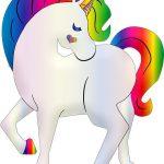 unicornio arco iris kawaii