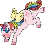 unicornio kawaii volador