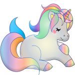 unicornio dibujo kawaii