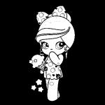 Muñeca Kawaii con gorro helado estrellas vestido de comida bonita