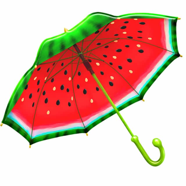 Paraguas Kawaii bonitos y baratos sandia lluvia