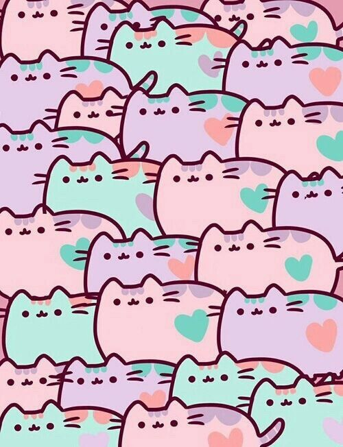 collage gatos kawaii