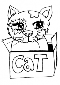 Gatito Kawaii regalo Cat para colorear