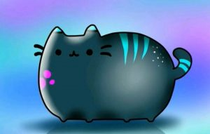 Gato Pusheen Kawaii con colores