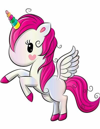unicornio Kawaii rosado